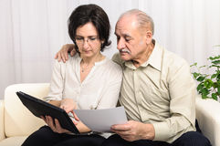Family financial calculation Stock Image