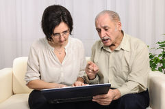Family financial problems internet Royalty Free Stock Images