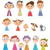 Family finger doll. Family finger figure three generations family Royalty Free Stock Photo