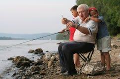 Family fishing Stock Photos
