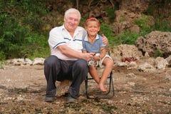 Family fishing Stock Image