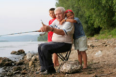 Family fishing Stock Photography