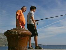 Family fishing Royalty Free Stock Photo