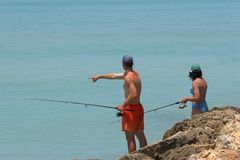 Family fishing Royalty Free Stock Photography