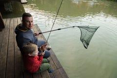 Family fishing Stock Photography