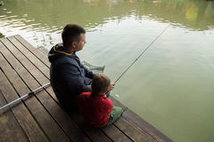 Family fishing Royalty Free Stock Photos