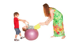 Family fitness. Stock Photos
