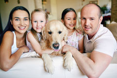 Family of five Stock Photo