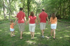 Family of five holding hands Stock Images