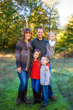 Family of Five Outdoors Royalty Free Stock Photo
