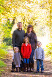 Family of Five Outdoors Stock Photography