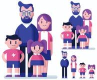 Family Flat Design Stock Photos