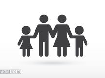 Family flat icon. Sign Family. Vector logo for web design, mobile and infographics. Vector illustration eps10. Isolated on white background Royalty Free Stock Photos