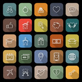 Family flat icons with long shadow Royalty Free Stock Photo