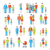 Family flat icons set Stock Image