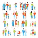 Family flat icons set Stock Image