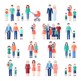 Family Flat Images Set Royalty Free Stock Photo