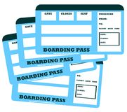 Family flight tickets Royalty Free Stock Images