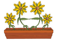 Family of flowers. Illustration of a family of flowers Royalty Free Stock Photography