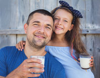 Family and food concept Royalty Free Stock Images