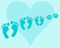 Family foots Stock Photography