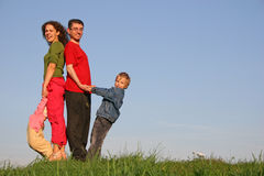 Family of four Royalty Free Stock Image