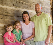 Family of Four. Attractive Family of Four Smiling Royalty Free Stock Image