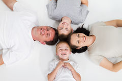 Family of four Stock Photo