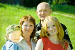 Family from four Royalty Free Stock Photos