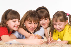 Family of a four Royalty Free Stock Image
