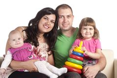 Family of a four Stock Photography