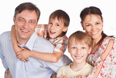 Family of a four Royalty Free Stock Photos