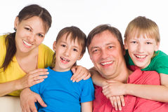 Family of a four Stock Image