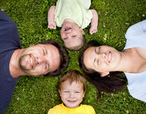 Family of four Royalty Free Stock Photo