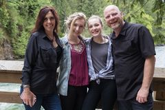 Family of four royalty free stock photography