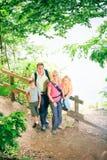 Family Of Four Hiking Stock Photos