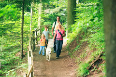 Family Of Four Hiking Royalty Free Stock Photography