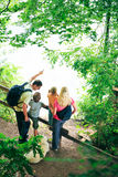 Family Of Four Hiking Royalty Free Stock Image