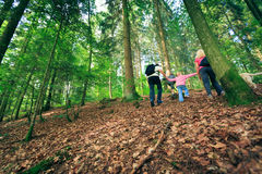 Family Of Four Hiking Stock Image
