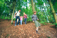 Family Of Four Hiking Stock Images