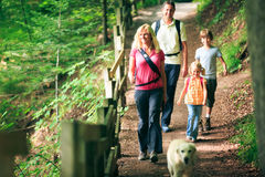 Family Of Four Hiking Royalty Free Stock Photos