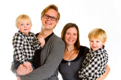 Family of Four Isolated Royalty Free Stock Images