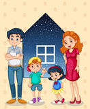 A family with four members Stock Image