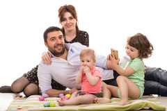 Family of four members Royalty Free Stock Photography
