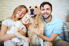 Family of four Stock Images