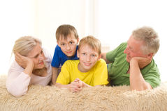 Family of four people Stock Images