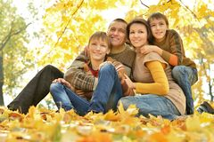 Family of four people Stock Photo