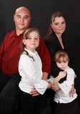 Family of four person Stock Photography