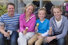 Family of four portrait Royalty Free Stock Photo