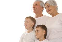 Family of four together Royalty Free Stock Photo